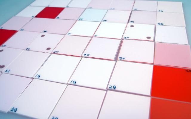 数々の試作サンプルのチップ
