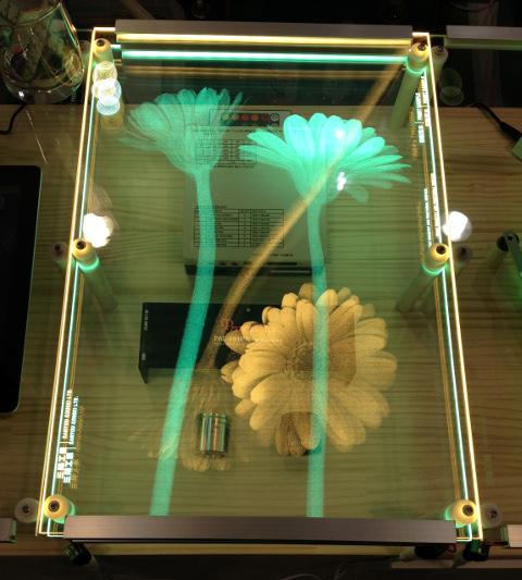透明導光画像(照光:パネル上下)(H27タマ展)